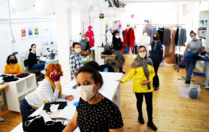 Werkstatt der Mund Nasen Masken
