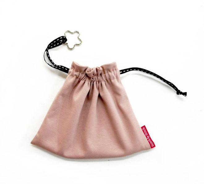 Tasche aus Jersey passend zur Maske mit Schlüsselring