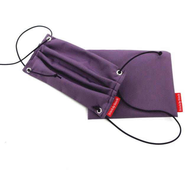virenresistente Maske in lila mit Tasche