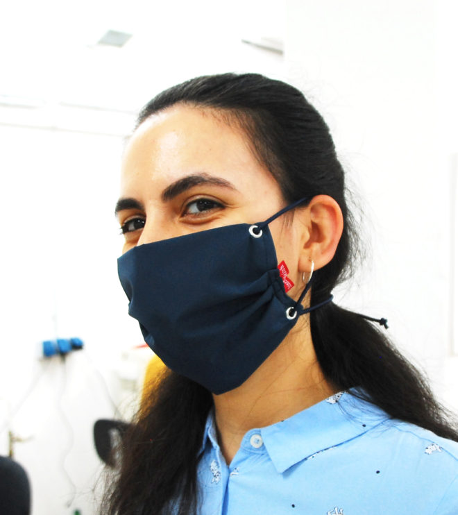 virenresistente Maske in blau