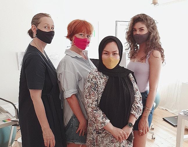 Maske Bandit Design aus zertifizierter Bio-Baumwolle